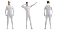 Venta al por mayor-Mandy personalizado segunda piel apretada trajes Lycra Zentai traje no Hood Negro Mock Neck Spandex Unitard Mens Cosplay cuerpo completo Bodysuits
