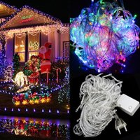 ac pretty - 20m ft led Bulbs Pretty Indoor Outdoor Fairy String Lights for Wedding Party Christmas LED String Fairy Tree Lights FEDEX
