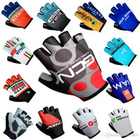 Unisex padded gloves - 2017 Tour de France quick step bora fox iam gcn lottl astana data italia Cycling Gloves racing MTB TEAM Bike bicycles gloves with Gel pads