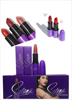 Wholesale M Brand Makeup Selena Amor Prohibido matte lipstick Cosmetics colors g lipsticks DHL