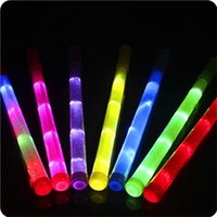 Chinese New Year Brown Noise Maker Large fluorescent bar   concert with the wholesale   electronic rainbow stick LED  colorful glow sticks