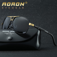 Wholesale 2017 new brand designer man HD polarized sunglasses with original box logo mens metal frame driving sunglasses polarizing driver sunglass