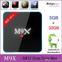 Wholesale M9X M3 S912 Octa Core Android TV Box GB GB Android Marshmallow G WIFI M LAN K Kodi Media Player H96 Pro Plus