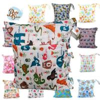 Wholesale Baby Reusable Bag Diaper Wet Bag cm Double Pocket Zippered La Bolsa Mojada Diaper Nappy Wet Bag