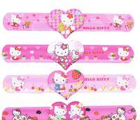 baby shower bracelet - Princess birthday party decorations kids Hello Kitty Slap Bracelets girl baby shower decorations party favors