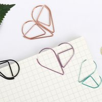 Wholesale cm Metal Water Drop Shape Bookmark Memo Books Marking Clip Modeling Book Marks Office School Stationery Supplies