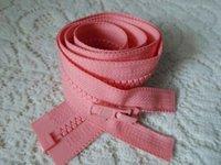 Wholesale ykk5 esin jacket pink zipper open cm placket pink zipper YKK5 resin coat jacket dress zipper