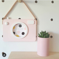 Wholesale Nordic Style Children s Baby Room Design Fresh Camera Frame Decoration Wall Hanging Camera Props Strolley Pendant Decoration