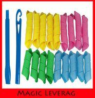 Wholesale In stock Set DIY MAGIC LEVERAG Magic Hair Curler Roller Magic Circle Hair Styling Rollers Curlers Leverag perm