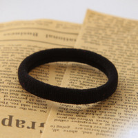 Black amber bands - Korea Hair ornaments Korea Stretch Durable Seamless size hair rope rubber band candy color hair circle