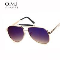 aviator custom - Aviator Sunglasses Ray Full Titanium Front Frame Bridge and Brow Bar Custom Japanese Sun Glasses Brand Designer OM249 Freeshipping