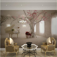 Wholesale Custom any size D wall mural wallpapers for living room Modern fashion beautiful new photo murals tree wallpaper