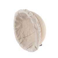 Wholesale Round x8cm Rattan Bread Baskets Banneton Bread Proofing and Baking Basket wih Liner