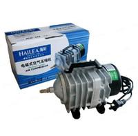 Wholesale 1piece NEW L min W Hailea ACO Electromagnetic Air Compressor aquarium air pump Fish Tank Oxygen AirPump