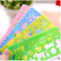 Wholesale 4pcs Plastic Vehicles Instruments Stencil Set For Painting Candy Ruler Oppssed Drawing Template For Kids Art Painting Gift