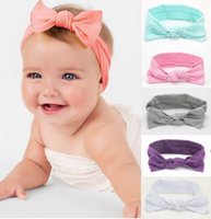 Headbands baby the band - The new autumn and winter season baby hair accessories new sweet cotton baby children tie hair band bow headband