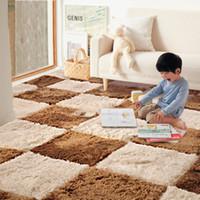 Wholesale DIY Kids Carpet x35CM Jigsaw Puzzle Area Carpet Girls Children Shaggy Soft Climbing Mats Floor Play Game Rugs Home Decor