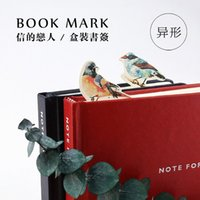 Wholesale Cute Kawaii Paper Book Marks Lovely Birds Bookmarks For Books Kids Gift School Materials