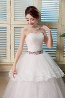 Wholesale DHL EMS epacket new High quality fashion elegant strapless personality with the waist decoratio Wedding dresses HS058