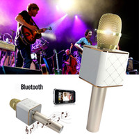 Wholesale Q7 PK K068 K088 Handheld Microphone Bluetooth Wireless KTV With Speaker Mic Microfono Handheld For iphone Smartphone Portable Karaoke Player