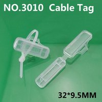 Wholesale cable tag Cable signage Waterproof transparent Logo box Cable ties Wire plastic sign strage box