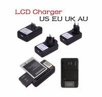Cargador inteligente universal de la batería del indicador del LCD Para el samsung GALAXY S4 I9500 S3 I9300 NOTA 3 S5 con la carga de la salida del usb UE UE ENCHUFE