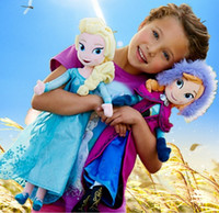 Wholesale delicate cm Princess Elsa Plush Anna Plush Toy Doll Brinquedos Kids Dolls Sven Kristoff Moive Toys Dolls For Gifts Baby Dolls