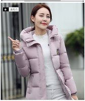 Wholesale 2016 New Korean Winter Women Coat Elegant Pure color Thick Warm Hooded Down Cotton Jacket High quality Large size Women Coat