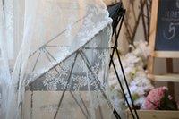 bay curtain - The lace finished curtain curtain gauze custom garden bedroom mantle living room bay window wear bar curtain aesthetic balcony yarn