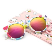 Wholesale Round Kids Sunglasses Retro Plastic Polarized Children Sun Glasses For Boys And Girls Mirror Shades UV400 Gafas De Sol Colors
