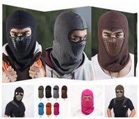 Wholesale Outdoor Face Mask Black Colorful Cycling Bike Motorcycle Windproof Hat Warm Balaclava Winter Face Ski Snowboard Mask OOA926