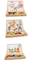Wholesale 11 The new characters spell spell le wooden magnetic drawing board the blackboard wooden children s early education educational puzzles