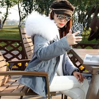Hooded arctic white fox - Big sale MR MRS ITALY Arctic White Fox fur liner grey jacket Women s short furs parka with Raccoon fur trimmed hood