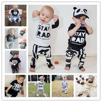 baby clothes superman - 2017 Summer Style Infant Clothes Baby stay rad pineapple superman letter Clothing Sets Short Sleeve Baby Boy Clothes