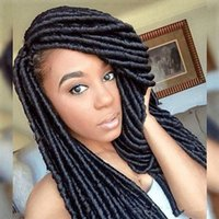 Wholesale 100 Kanekalon Soft Dread Locks Synthetic Braiding Hair Crochet Twist Braids Inch G Packs Synthetic Hair Extensions More Colors