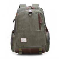 Wholesale Multi function Vintage Canvas Backpack Rucksack Casual Daypacks Bookbags Outdoor Sports Large Capacity