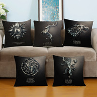 adult car games - Game of Thrones Throw Pillow Case Cotton Linen Cushion Cover Sofa Bed Car Office Waist Pillow Cover cm Decorative Pillow Covers