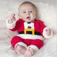 baby boy dress outfit - Infant Christmas Gift Cute Wear Christmas Santa Claus Fancy Dress Outfit Suit Costume Warm Saft Long Sleeve For Baby Boy Kids Clothing
