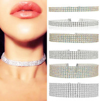 Wholesale Europe and the United States fashion jewelry personality European version of the popular beam neck element necklace Tide woman full diamond