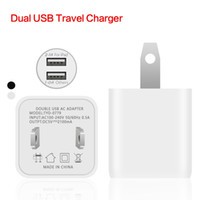 Wholesale Factory Sales US Plug I3 Dual USB Travel Charger Wall Charger for Iphone Ipad samsung galaxy Huawei tablet all Smartphone Fast Shipping