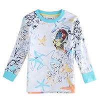 Wholesale 2016 the spring and autumn period and the new coat boys long sleeve T shirt cotton cuhk children round collar render unlined upper garment o
