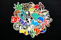 Wholesale 100 Car Small Stickers Home Funny Jdm Skateboard Motorcycle Laptop Stickers Car covers DIY Vinyl