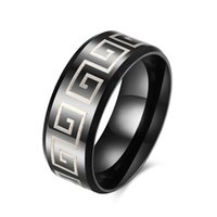 Wholesale Personality Trend Statement Ring Titanium Steel Series R085 inch Mens Ring Party Date Business