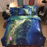 Wholesale HOT D Home Textiles Active Printed Fantasy Starry Sky design cotton fashion comfortable quilt cover pillowcases bedding sets