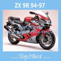 al por mayor 1995 kawasaki ninja zx9r carenados-Carenados ZX 9R Para KAWASAKI NINJA ZX9R 1994-1997 1995 1996 ZX9R 94-97 95 96 carenados redsilver # g925r