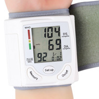 Wholesale Digital LCD Screen Wrist Blood Pressure Monitor Wrist Cuff Heart Beat Meter White Monnitors