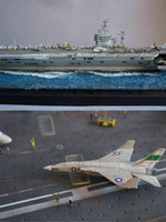 Wholesale Small hand assembled military aircraft carrier model simulation warship Nimitz class aircraft carrier warship ship model