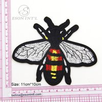 Wholesale Bee Patch pieces Big Bee Embroidered Applique Patch Bees applique for garment