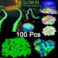 Декор аквариума Цены-100x Glow In The Dark Pebbles Камень Home Garden Walkway Аквариум <b>Fish Tank Decor</b> Новый декоративный гравий для вашего фантастического сада или двора