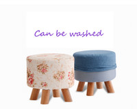 Stools & Ottomans bench wear - fashion stool solid wood creative wear shoe stool fabric bench children simple small stool